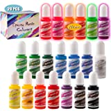 Sevgili Resin Pigment- 20 Color Epoxy Pigment- 6 Neon Color and 14 Solid Color Resin Dye Liquid for Resin Color Art, Epoxy Re