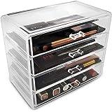 Sorbus Acrylic Cosmetics Makeup and Jewellery Storage Case Display - 4 Large Drawers -Space- Saving, Stylish Acrylic Bathroom