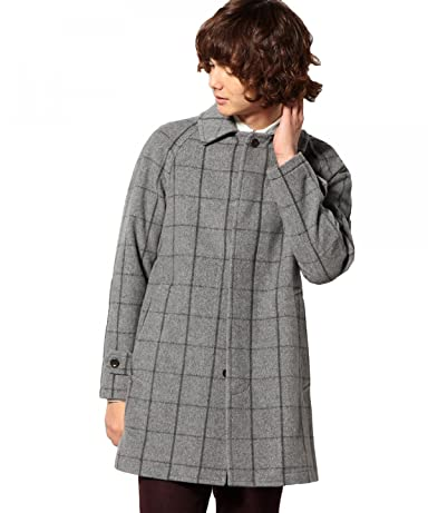 Shaggy Blended Wool Coat 3225-139-1822: Grey
