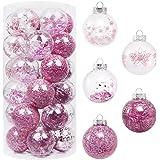 """SY Super Bang Christmas Ball Ornaments,2.76""""(20PCS Pink) Shatterproof Christmas Decorative Set, Xmas Tree Balls for Holiday,"""