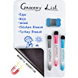 "12 x 8 inches Magnetic Dry Erase Whiteboard Sheet ,Home Kitchen Fridge Shopping List and Office Notice Board (12"" X 8"")"
