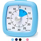 Secura 60-Minute Visual Timer, Silent Study Timer for Kids and Adults, Time Management Countdown Timer for Teaching (Blue)