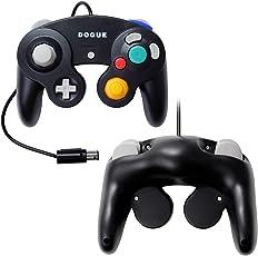【DOGUE】 ニンテンドー ゲームキューブ コントローラー Switch WiiU Wii 互換品 振動対応 ブラック