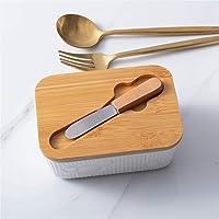 バタープレート バターケース チーズプレート 蓋付き チーズナイフ付き バターボックス チーズトレー バターコンテナー…