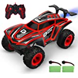 DEERC RC Cars 1/12 Scales Remote Control Car 4WD Off Road Rock Crawler,2.4GHz All Terrain Monster Truck with Rear Fog Stream