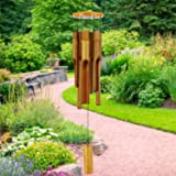 """Astarin Bamboo Wind Chimes Outdoor,Wooden Wind Chimes with Amazing Deep Tone,30"""" Classic Zen Garden Windchime for Relaxation,"""