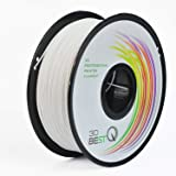 3D BEST-Q PLA 1.75mm 3D打印機用絲一通用耗材、高精度+/- 0.03mm,凈重1kg/卷子 16色可選 (白色)