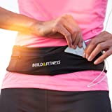 Running Belt, Fitness Belt, Flip Waist Belt with Key Clip, Fits All Phone Sizes. Unisex. for Gym Workouts, Exercise, Cycling,
