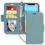 iPhone11 ケース アイフォン11ケース Skycase [スキミング防止機能] [Qi ワイヤレス充電対応] ハンドメイド 型押し PUレザー 手帳型 カード収納 スタンド機能 サイドマグネット式 ストラップ付き 全面保護 耐汚れ 耐衝撃 2