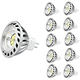 CYLED 12V6W Mr16 Led Bulbs -4500K Spotlight - 500 Lumen, 50Watt Equivalent - 45 Degree Beam Angle Pack of 10 Units Day White