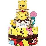 KanonBabys おむつケーキ [ 新生児向け/ディズニー : くまのプーさん / 2段 ] パンパースS22枚…