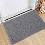 Indoor Doormat Absorbent Mats Rubber Backing Non Slip Door Mat for Front Door Inside Floor Mud Dirt Trapper Mats Entrance Rug