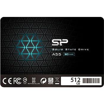 シリコンパワー SSD 512GB 3D TLC NAND採用 SATA3 6Gb/s 2.5インチ 7mm 3年保証 A55シリーズ SP512GBSS3A55S25