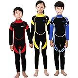 Scubadonkey 2.5 mm Neoprene Full Body Wetsuit for Kids | Jellyfish Repelling | for Scuba Diving Wind Surfing Kayaking Swimmin
