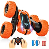 Remote Control Car,2.4GHz Electric Race RC Stunt Car, Double Sided 360°Flips Rotating Vehicles with LED Headlights,4WD High S