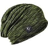 メンズニット帽子 夏用 大きいサイズ ゆるシルエットのニットキャップ サマーニット帽 ユニセックス B079…