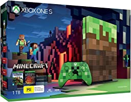 Xbox One S 1TB Minecraft Limited Edition Console with Minecraft Full Game Download Code