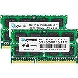 DDR3 1066MHz PC3-8500 4GBx2枚 1.5V ノートPC用メモリ モジュール 204pin CL7 Non-ECC SO-DIMM Mac 対応