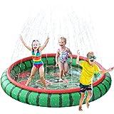 "SuSenGo Splash Pad Sprinkler Mat for Kids, Large Size 74.8"" Splash Pad Pool for Child Toddlers Summer Outdoors Water Toys Inf"