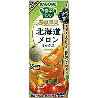 カゴメ 野菜生活100 濃厚果実 北海道メロンミックス (リーフパック)195ml×24本