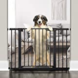 """Cumbor 43.3""""Auto Close Safety Baby Gate, Extra Tall and Wide Child Gate, Easy Walk Thru Durability Dog Gate for The House, St"""