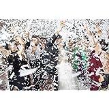 Battife White Confetti Wands 7Pack Biodegradable Tissue Paper Confetti Flick Flutter Sticks for Wedding Celebrations Annivers