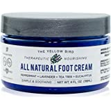 All Natural Antifungal Foot Cream. Moisturising Organic Relief for Dry Cracked Heels, Callused Feet, Athletes Foot. Best Ther