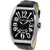 [フランクミウラ] 腕時計 六号機 マグナム 革ベルト FM06K-B メンズ ブラック
