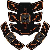 EMSIC EMS 腹筋ベルト 液晶表示 USB充電式 腹筋パッド 6種類モード 9段階強度 腹筋 腕筋 筋トレ器具 男…