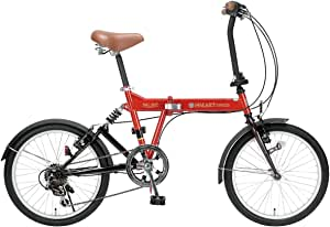 My Pallas(マイパラス) 折りたたみ自転車 SC-07-OR 20インチ 6段変速 リアサスペンション付 オレンジ