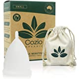 Cozio Menstrual Cup (Aussie Owned) - Soft and Flexible Moon Cup - Comfortable Fit - Wear for 12 Hours - BPA & Latex Free - Si