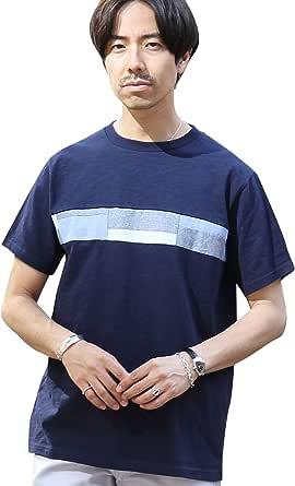 (コーエン) COEN 布帛パッチワーク切り替えTシャツ 75256008054