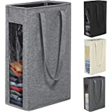 Chrislley 66L Slim Laundry Hamper Tall Laundry Basket Narrow Laundry Hamper Visual Window Small Laundry Hamper Large Baskets