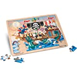 Melissa and Doug 3800 Pirate Adventure Wooden Jigsaw Puzzle with Storage Tray (48 pcs)