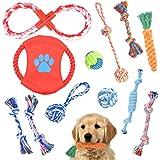 犬ロープおもちゃ 12個セット 犬おもちゃ Fohil 噛むおもちゃ ストレス解消 天然コットン 歯磨き 清潔 丈夫 耐久性 犬知育玩具 天然コット 小/中型犬に適用 ペットおもちゃ