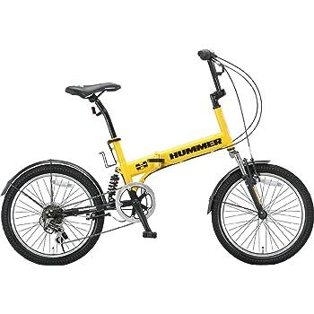 HUMMER(ハマー) 折りたたみ自転車  20インチ FDB206 シマノ6段変速 [Wサスペンション/前後フェンダー/Vブレーキ/ボトルゲージ/リフレクター標準装備]