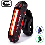 Volcano Eye Bike Rear Light,USB Rechargeable LED Safety Lights for Bicycle Taillights,Ultra Bright Waterproof Cycling Tail Li