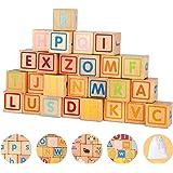 アルファベット積み木セット キューブつみき 木製つみ木 ブロック 子供おもちゃ 知育玩具 子供プレゼント クリスマスプレゼント