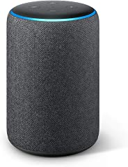 Echo Plus (2nd gen) – Premium sound with a built-in smart home hub - Charcoal Fabric
