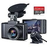 Changer ドライブレコーダー 前後カメラ 2021年最新版AHD超鮮明リアカメラ 1296PHD高画質 170度広角視野 HDR/WDR搭載 Sonyセンサー 24時間駐車監視 Gセンサー 高温対応 小型 ドラレコ 32GB SDカード付き 日