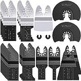 Oscillating Saw Blades, Metal Wood Oscillating Tool Blades Quick Release Multi Tool Blades Universal Bi Metal for Dewalt Rock