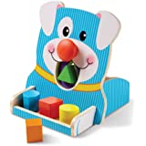 Melissa & Doug 30121 First Play - Spin & Feed Shape Sorter Baby Play