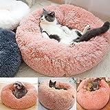 猫のベッドペッ猫用 休憩所 ンペット用品通年クッション暖かい寒い冬洗えるドームキャットハウス小型犬と猫人気のかわいいふわふわ暖かい猫の家猫のベッド冬の寒さ対策ペット用品Mサイズ直径50x高30cm(推奨重量6Kgまたは小さい) (M (50*30CM) 重量6Kgまた)