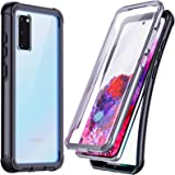 Temdan for Samsung Galaxy S20 Case, Built-in Screen Protector Full Body Heavy Duty Shockproof Case Support Wireless Charging