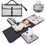 Gimars Longest Largest Portable Baby Diaper Bag Changing Pad Mat, Softer PE Coated Oxford Waterproof Travel Home Changing Mat
