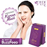 LA PURE Korean Face Mask - Hydrating Sheet Mask, Beauty Snail Mask, Anti-Wrinkle Korean Skin Care, Anti-Aging Sheets Pack, Hy