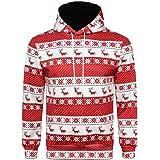 Howme-Men Long-Sleeve Printing Christmas Hooded Pocket Casual Pullover Sweatshirt