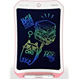 VSON Colorful Pink 10 inch LCD Writing Tablet Drawing Pad Learning Express Toy Electronic Writing Board for Kids Learning, Sc