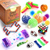 Fidget Toys Set, 16 Pcs. Sensory Tools Bundle for Stress Relief and Anti-Anxiety for Kids and Adults, Marble and Mesh, Pack o