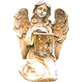 Bo-Toys Solar Powered Fairy Angel with Wings and Solar Glowing Jar LED Garden Light Decor